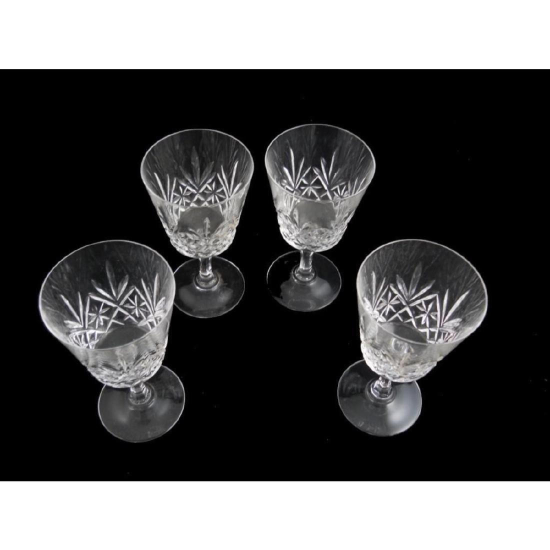 Pineapple Design Cut Crystal Goblets Set - 2