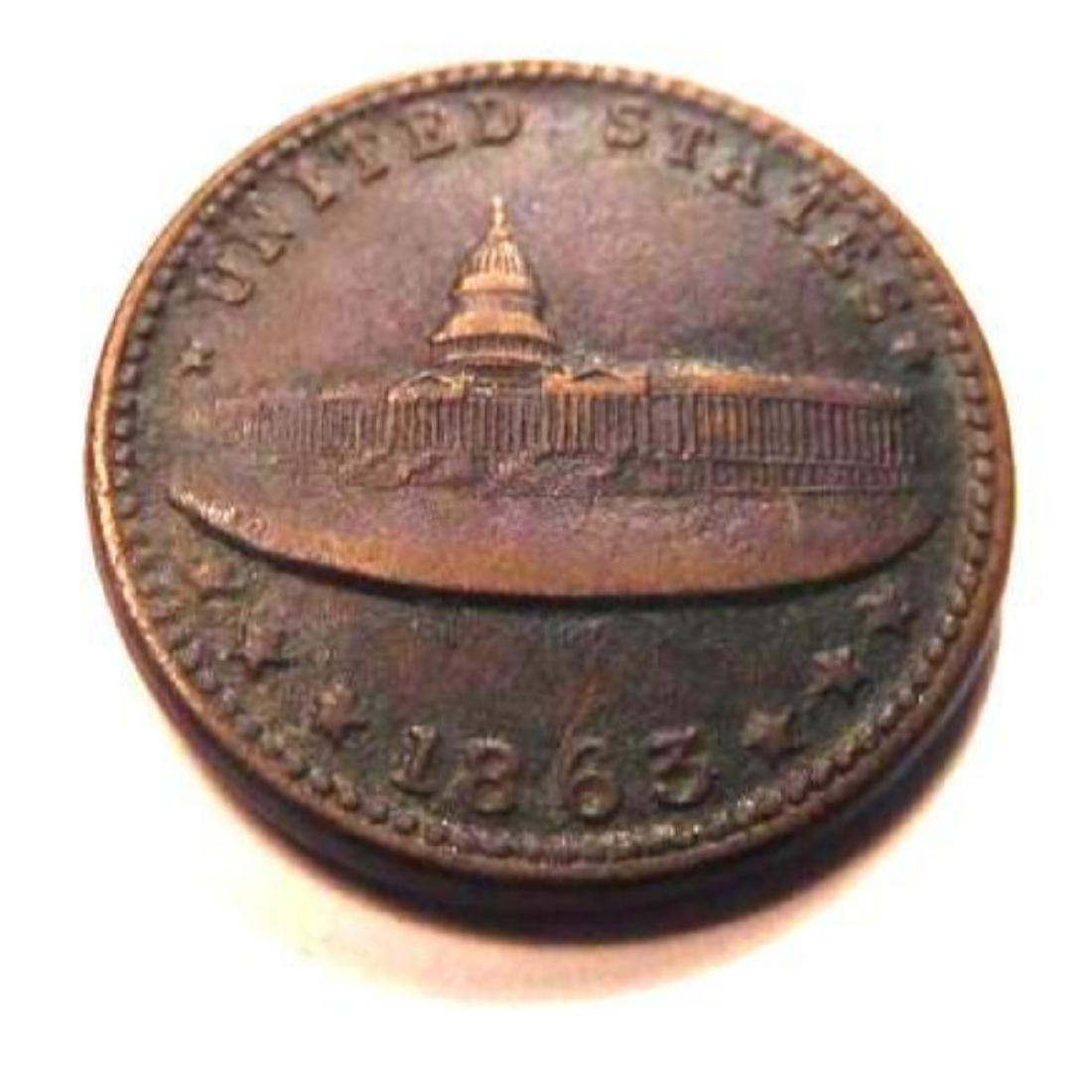 1863 Civil War Token - E. W. Atwood