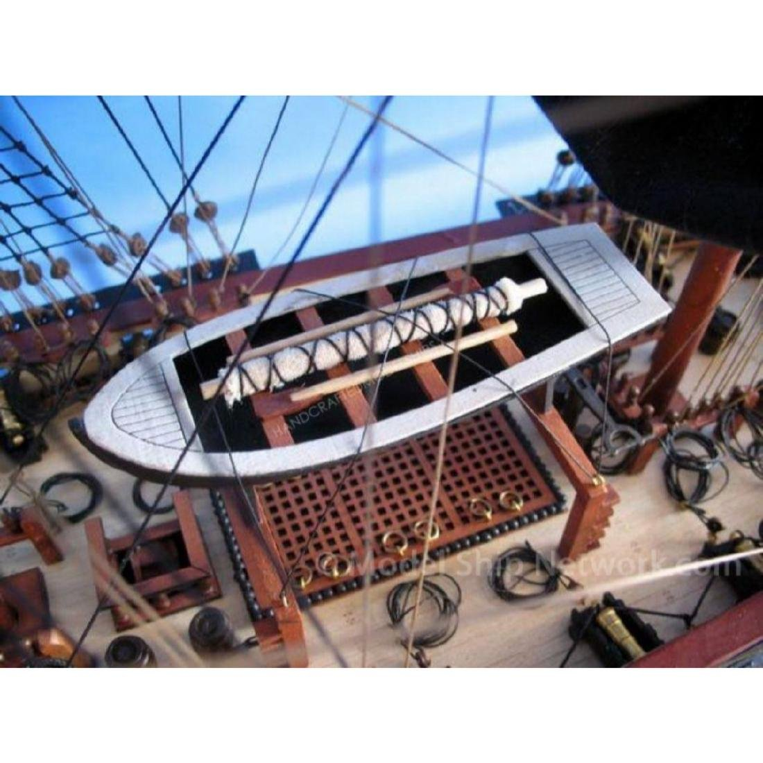 """Wooden Caribbean Pirate Ship Model Limited 36"""" - Black - 2"""