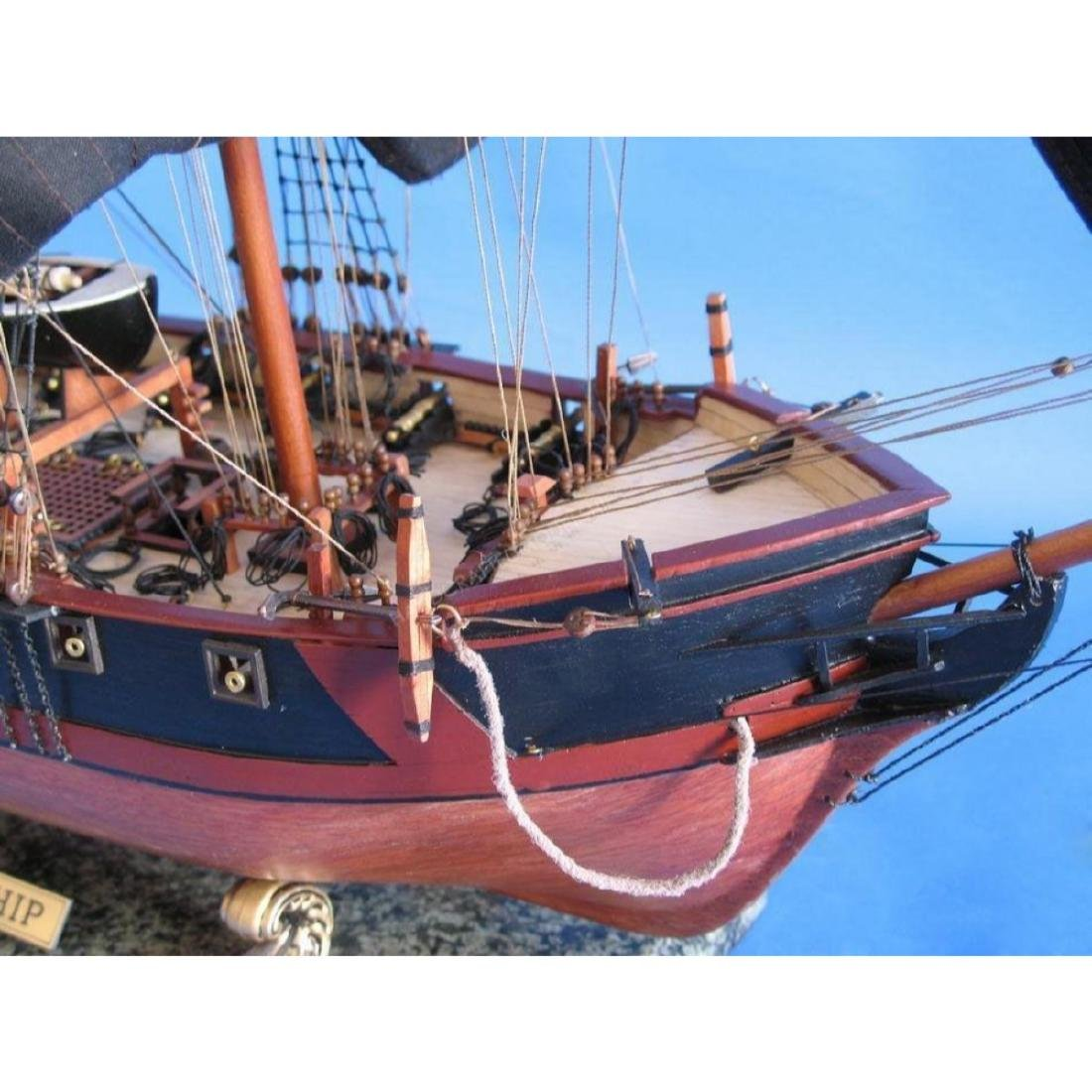 """Wooden Caribbean Pirate Ship Model Limited 36"""" - Black - 3"""