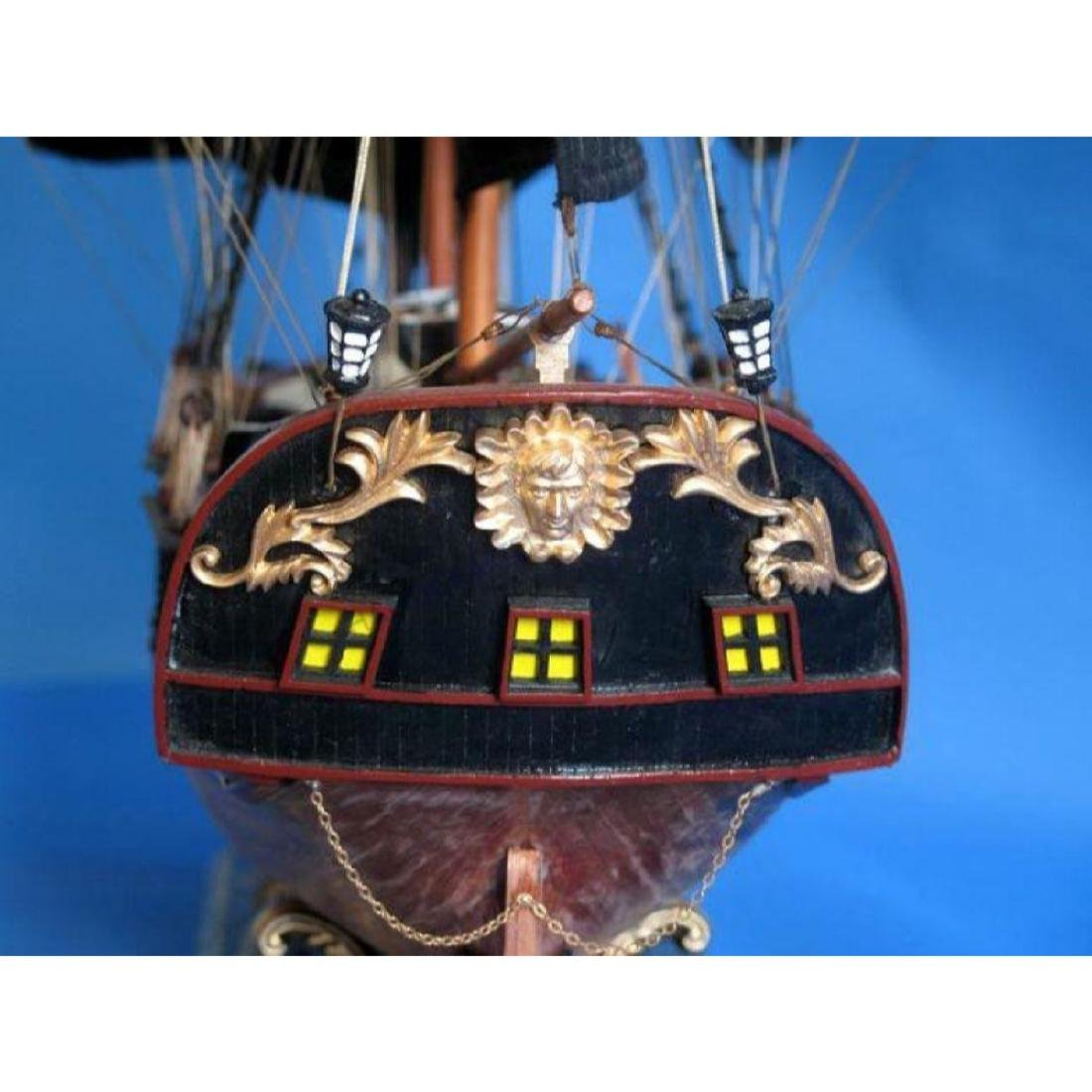 """Wooden Caribbean Pirate Ship Model Limited 36"""" - Black - 4"""