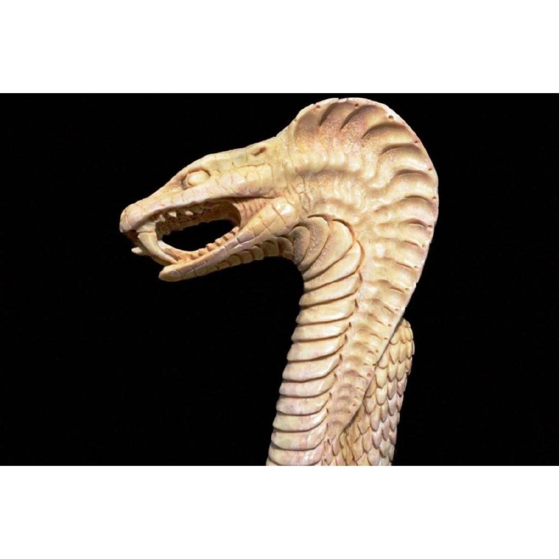 Carved Antler Cobra Snake Can Handle - 2