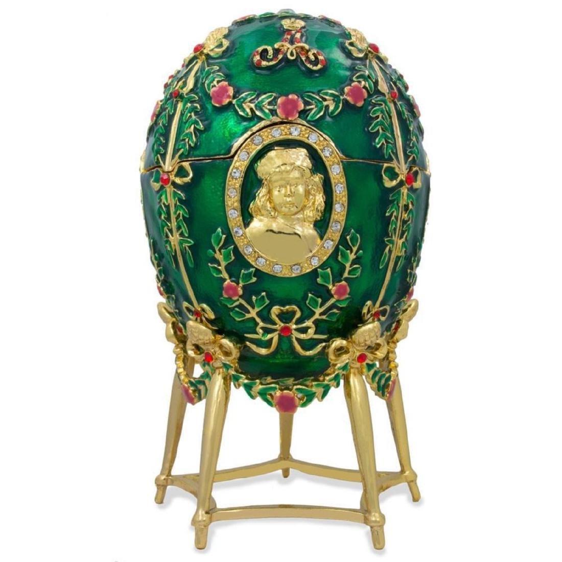 Faberge Inspired 1908 Alexander Palace Faberge Egg - 3