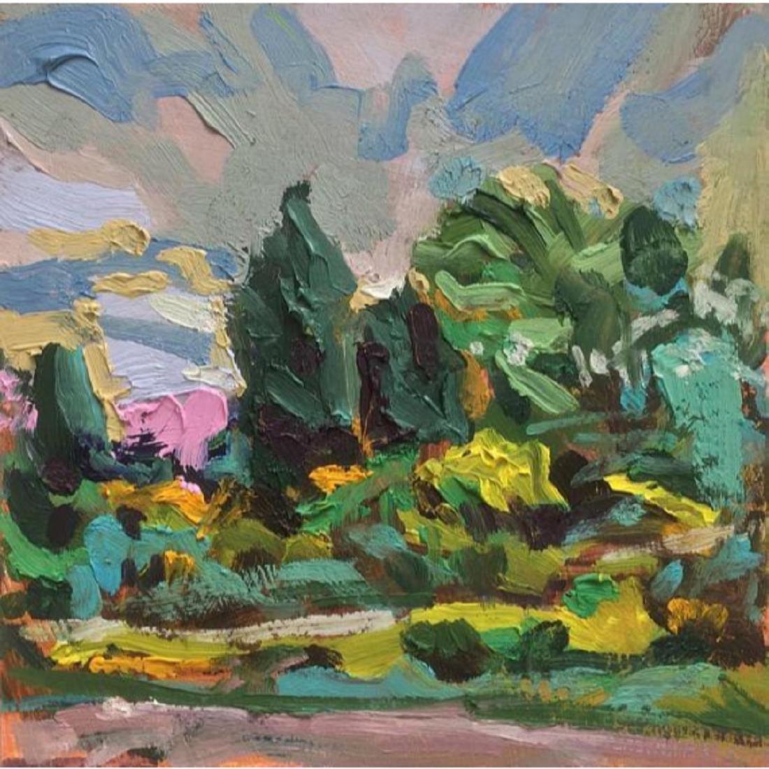 21stc Impressionism, Signed British Landscape, Oil
