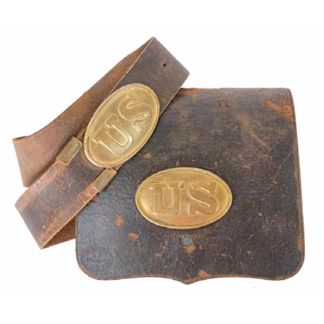 19thc Civil War Indian Wars US Cartridge Box