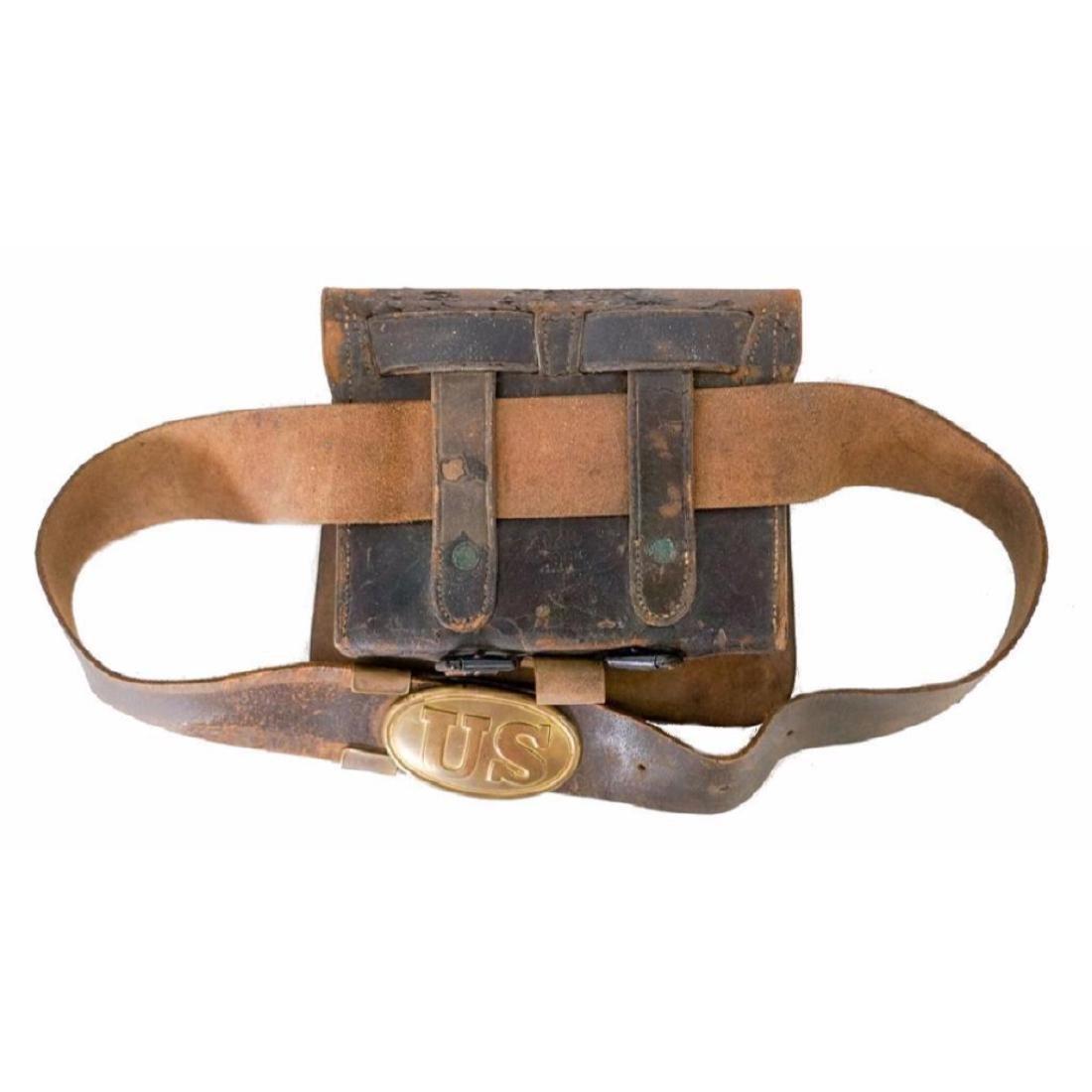 19thc Civil War Indian Wars US Cartridge Box - 2