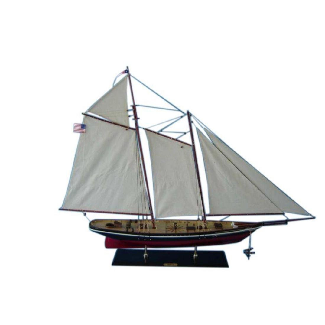"Wooden America Model Sailboat Decoration 50"" Limited"