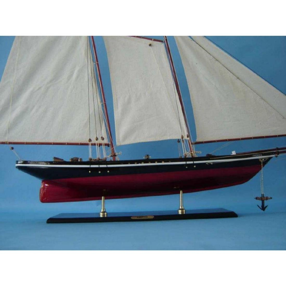 "Wooden America Model Sailboat Decoration 50"" Limited - 3"