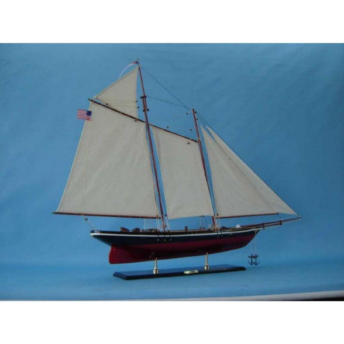 "Wooden America Model Sailboat Decoration 50"" Limited - 6"