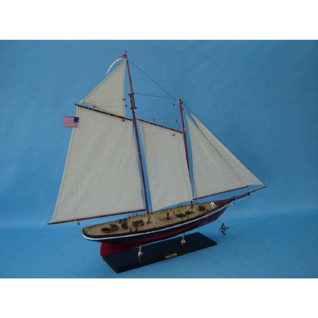 "Wooden America Model Sailboat Decoration 50"" Limited - 7"