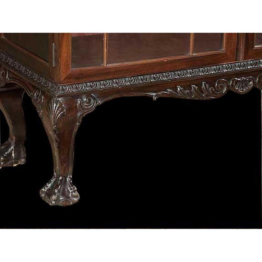 Chippendale-style Mahogany Bookcase Cabinet - 2