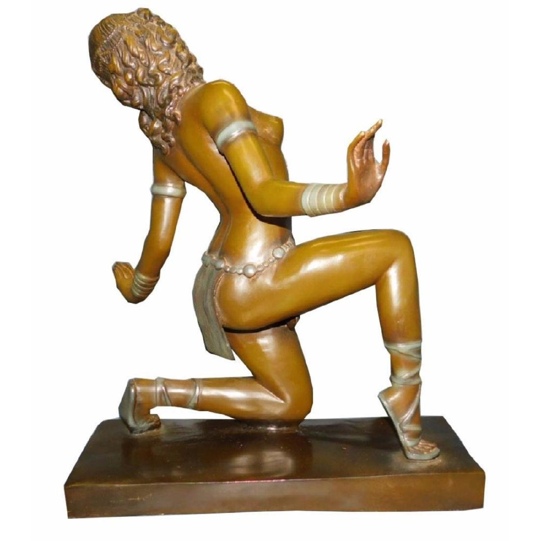 Bronze Art Deco Period Female Dancer Sculpture. - 2