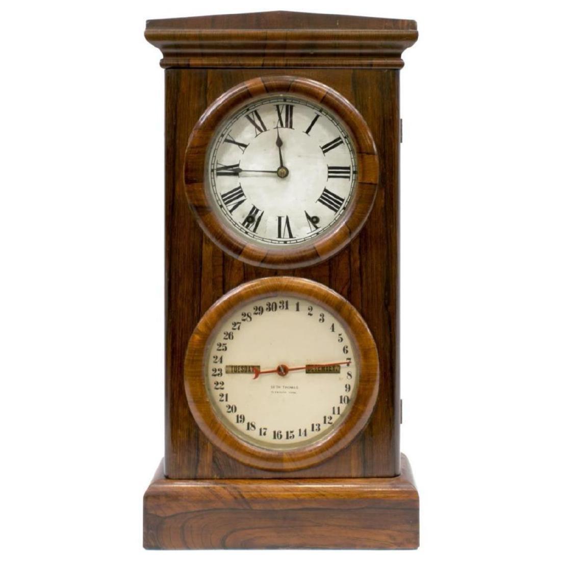 Seth Thomas Rosewood Cased Calendar Clock