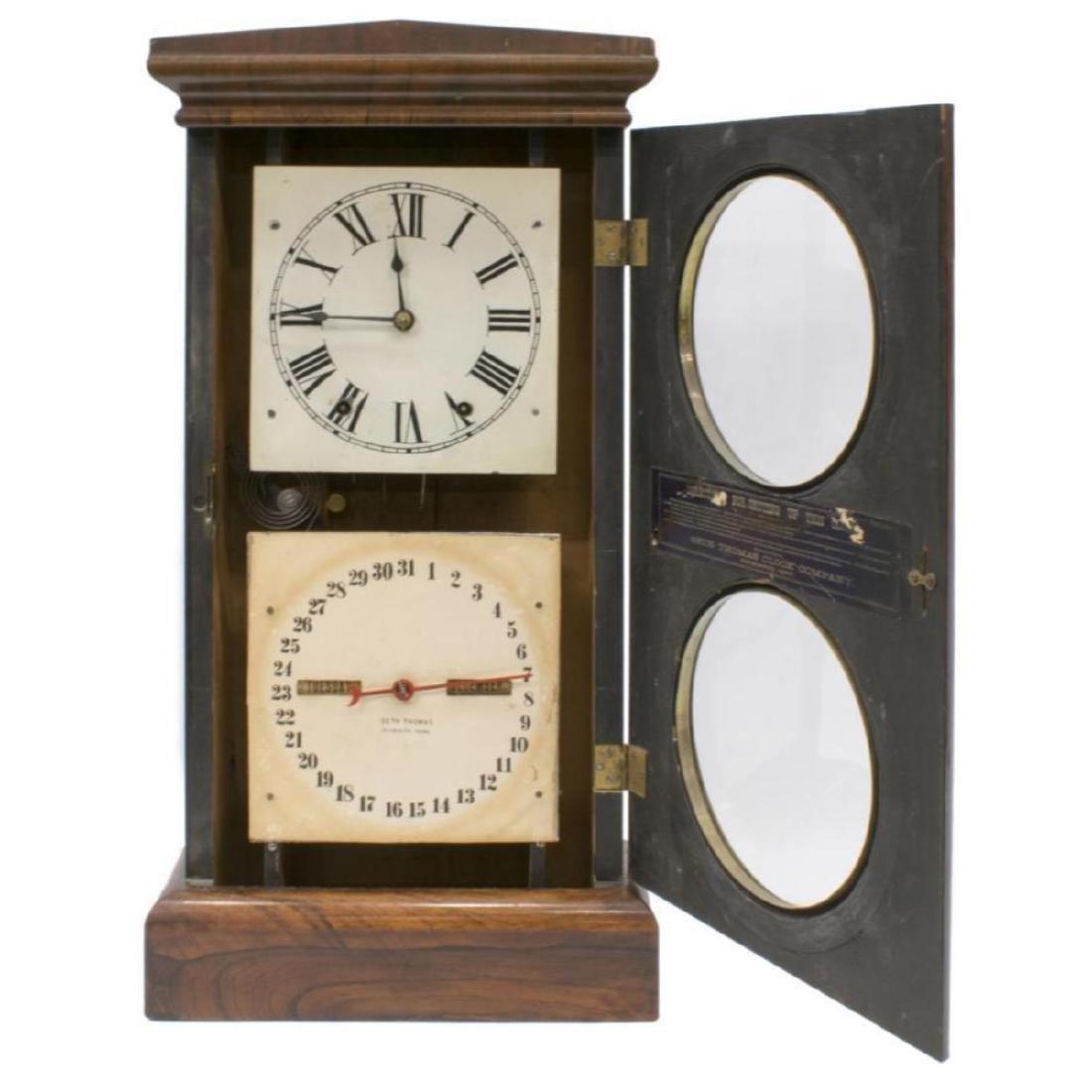 Seth Thomas Rosewood Cased Calendar Clock - 2