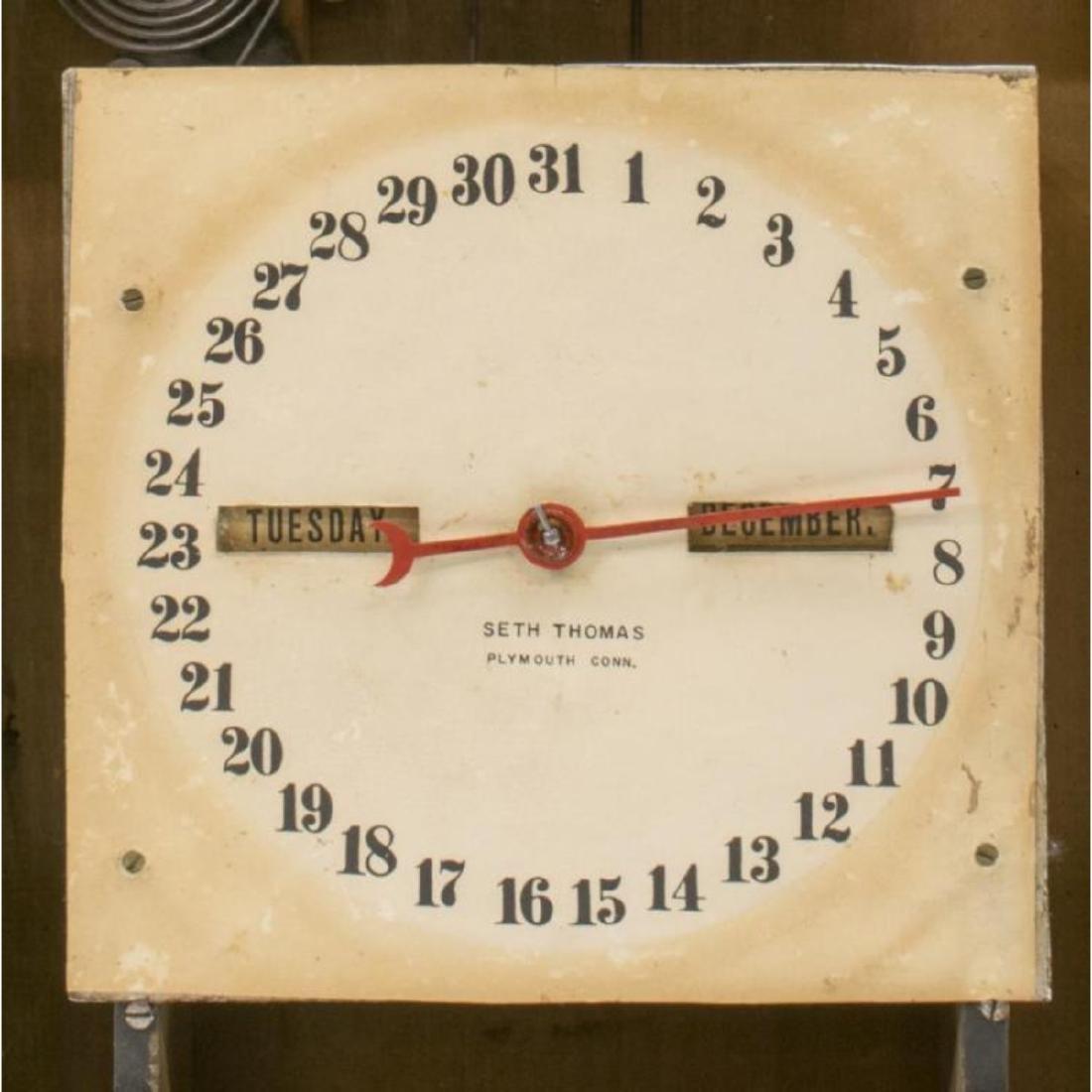 Seth Thomas Rosewood Cased Calendar Clock - 4