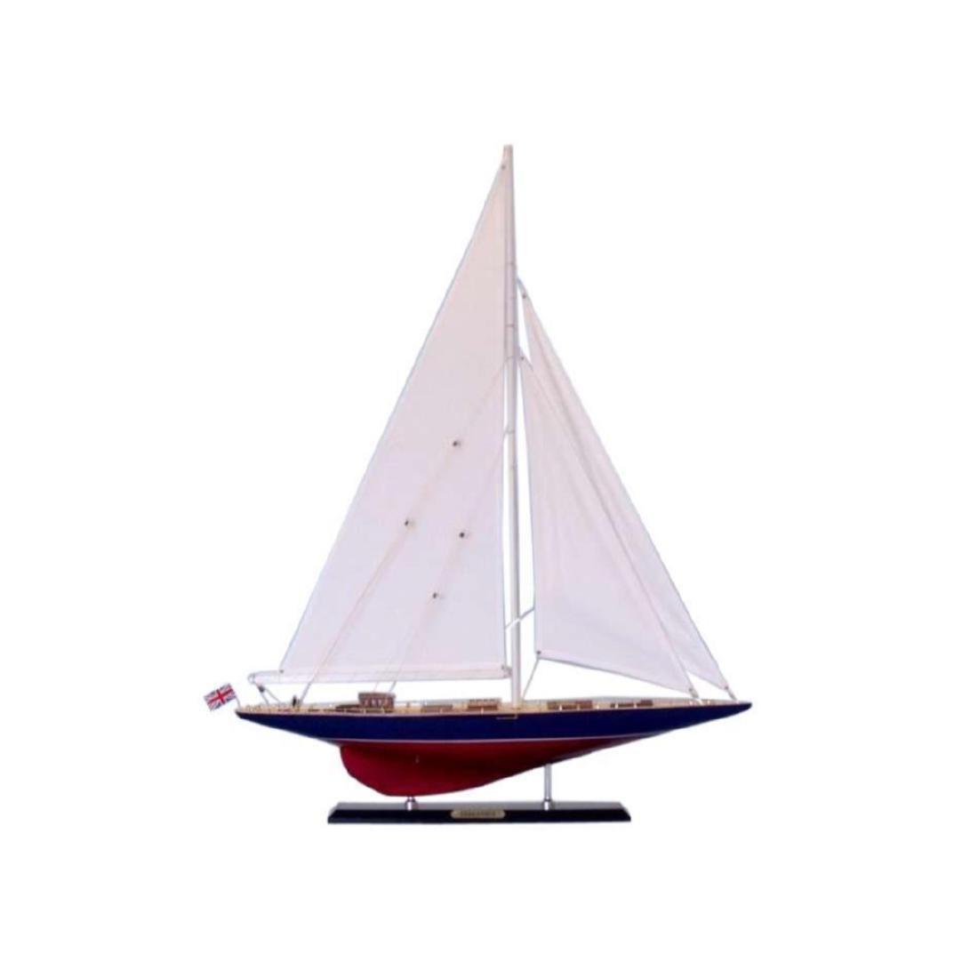 "Wooden Endeavour Limited Model Sailboat Decoration 35"""