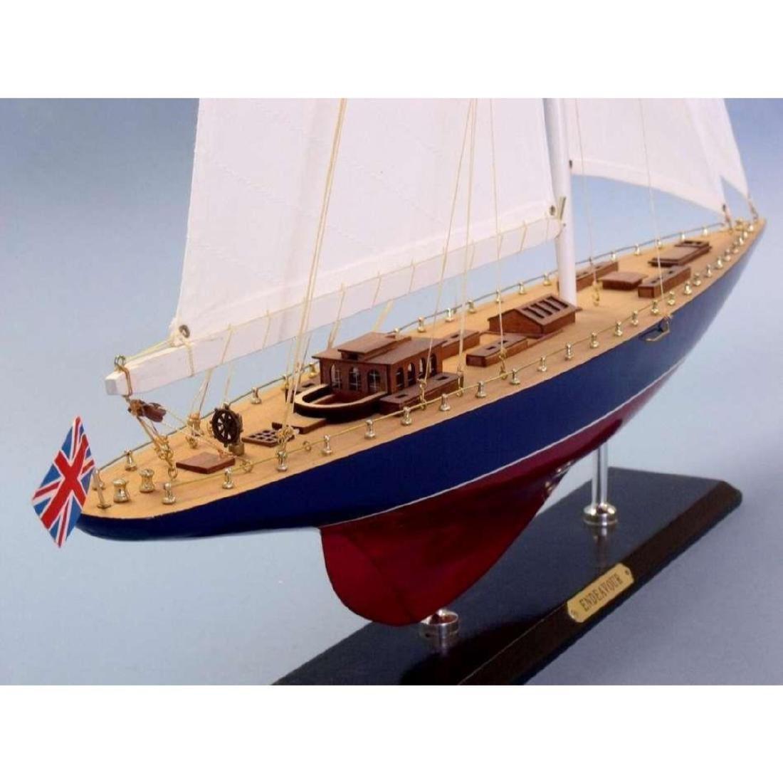 "Wooden Endeavour Limited Model Sailboat Decoration 35"" - 6"