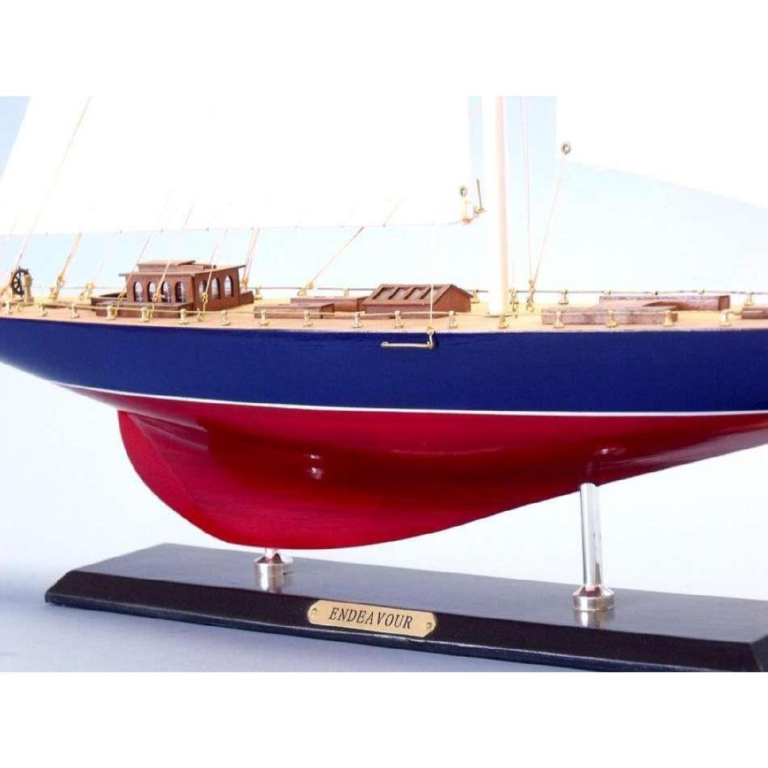 "Wooden Endeavour Limited Model Sailboat Decoration 35"" - 8"