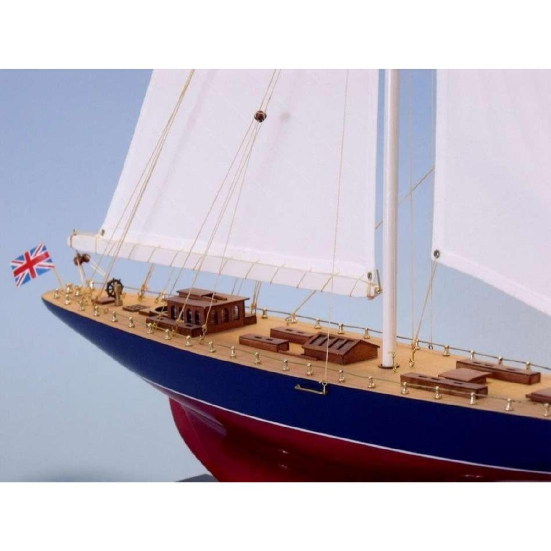 "Wooden Endeavour Limited Model Sailboat Decoration 35"" - 9"