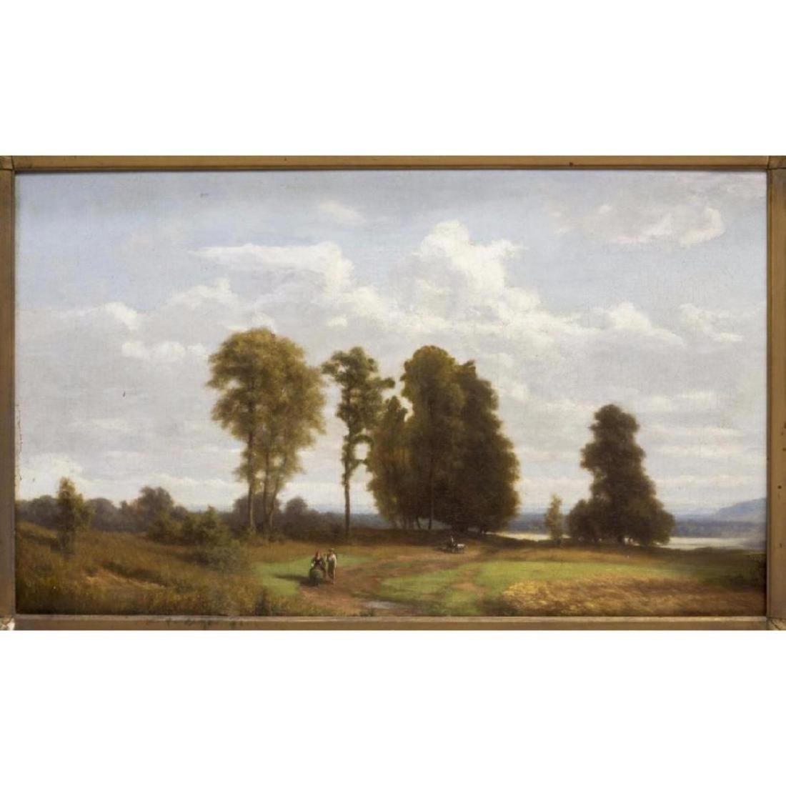 Framed Oil On Board Painting, Landscape