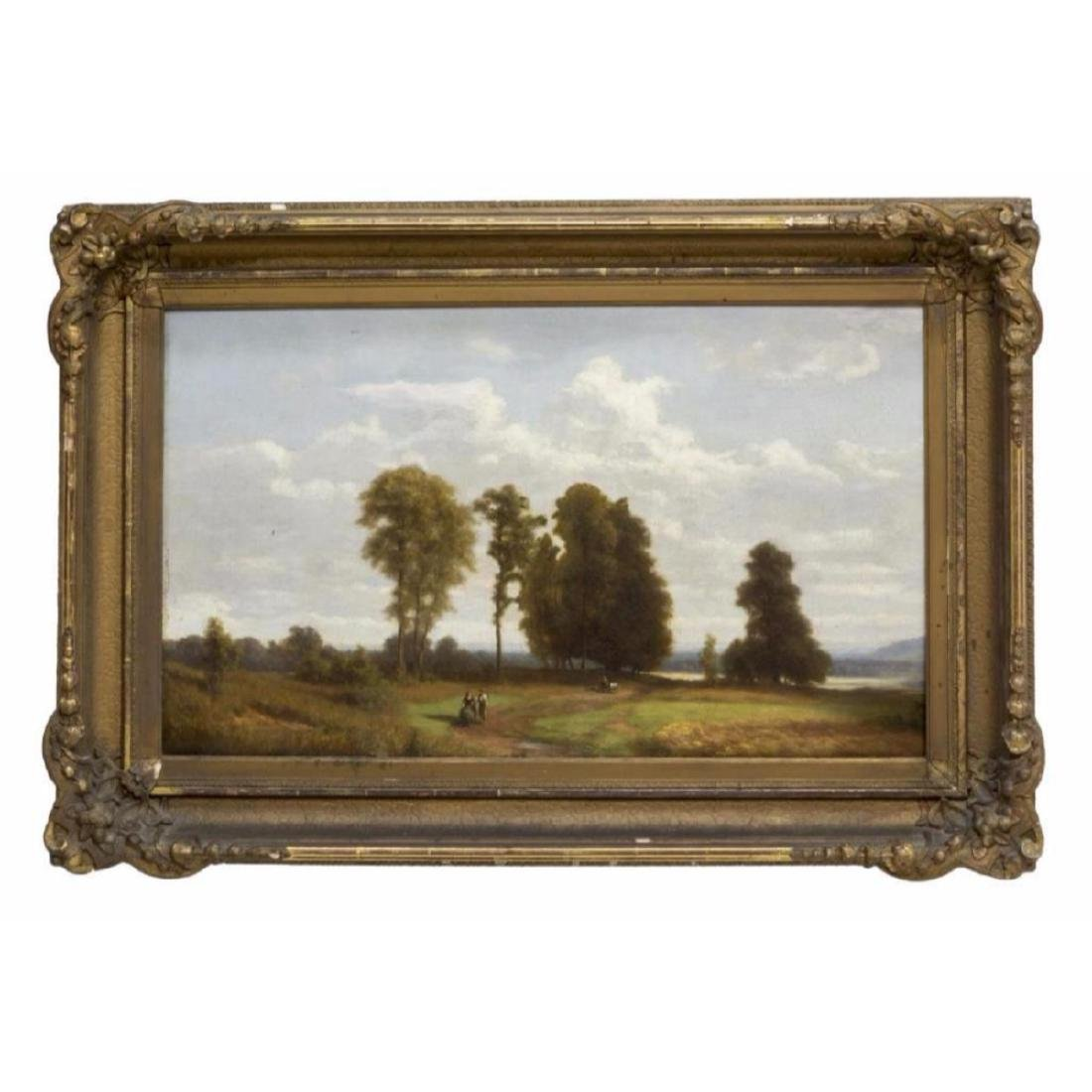Framed Oil On Board Painting, Landscape - 2