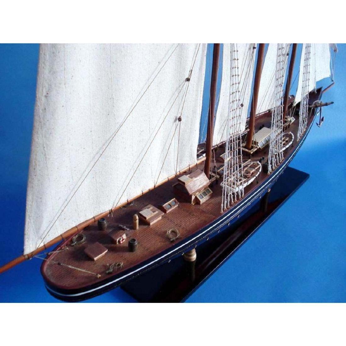 "Wooden Atlantic Limited Model Sailboat 32"" - 2"