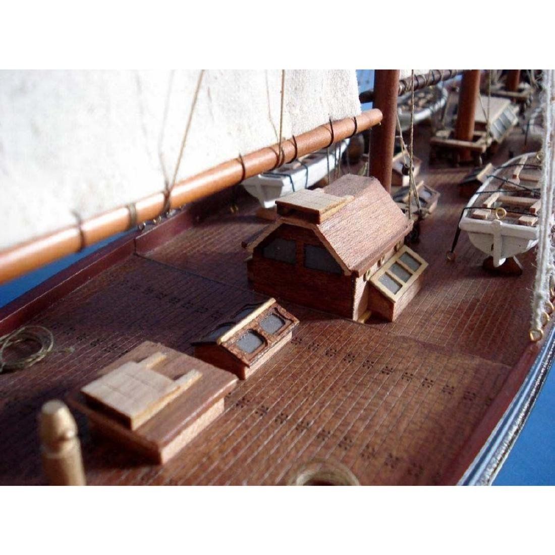 "Wooden Atlantic Limited Model Sailboat 32"" - 3"