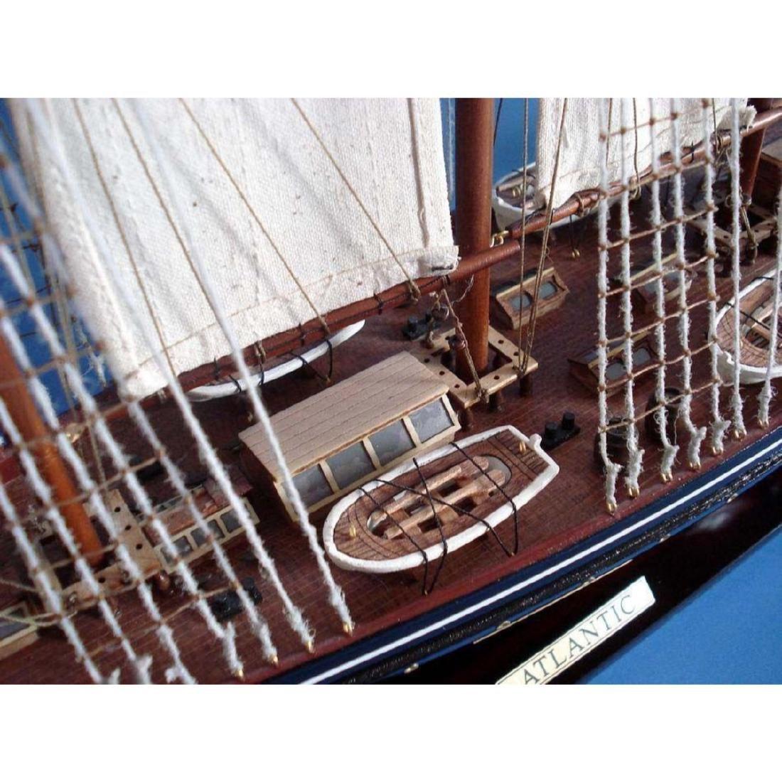 "Wooden Atlantic Limited Model Sailboat 32"" - 6"