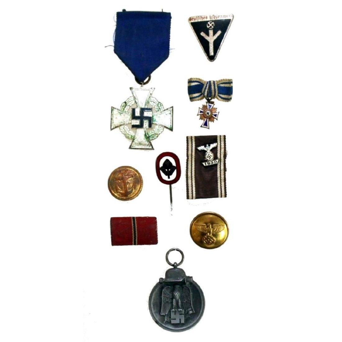Collection of WWII German Nazi Medals Badges