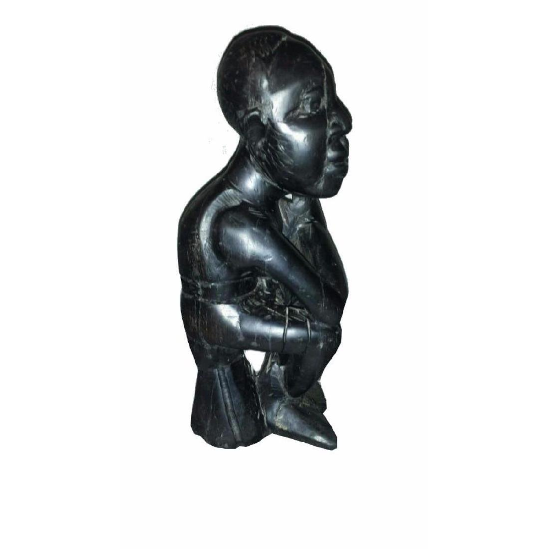 Wood Carved Sculpture Thinking Man - 2