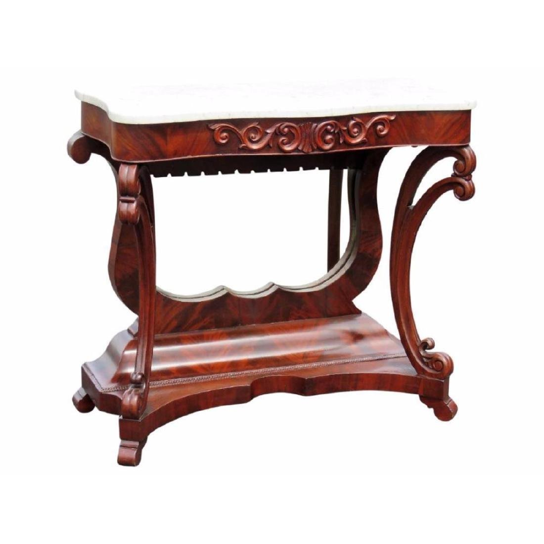 Empire Mahogany Marbletop Console Table