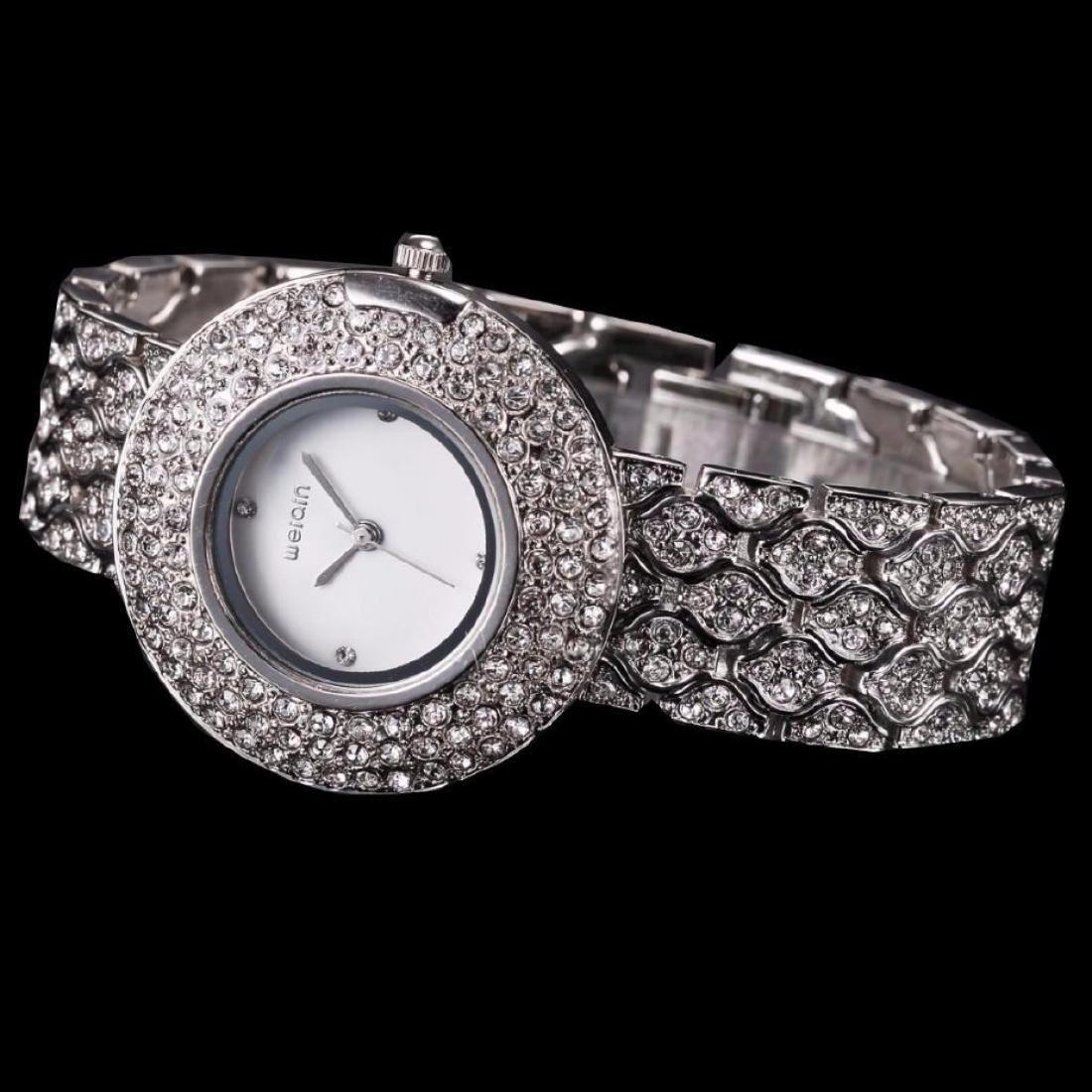 Women's Stainless Steel & Crystal Quartz Bracelet Wrist - 2
