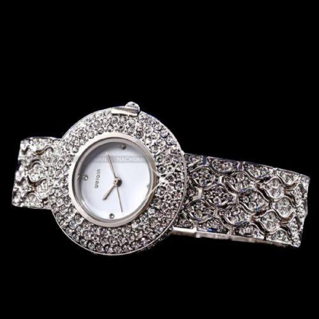 Women's Stainless Steel & Crystal Quartz Bracelet Wrist - 3