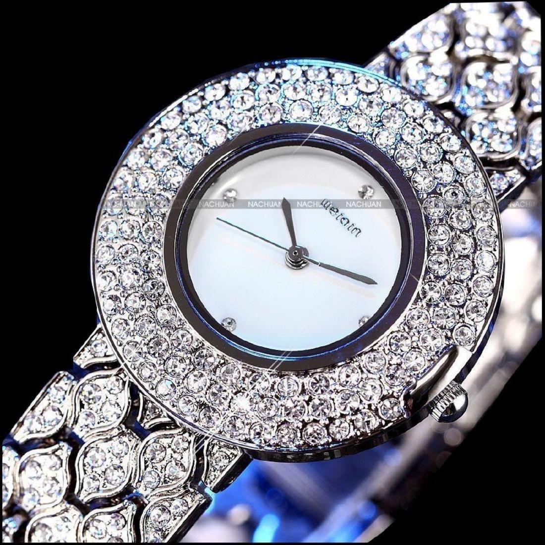 Women's Stainless Steel & Crystal Quartz Bracelet Wrist - 5