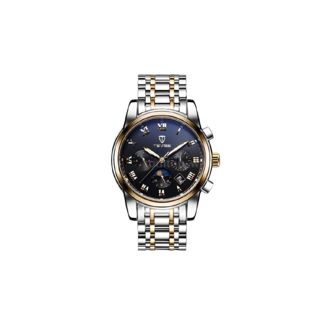 TEVISE Men Watch Mechanical Automatic Moon Phase Date