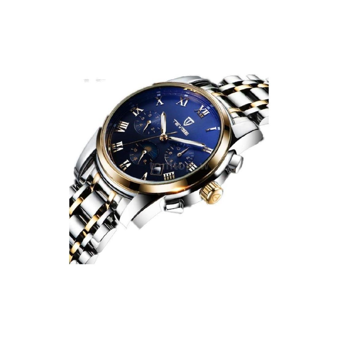 TEVISE Men Watch Mechanical Automatic Moon Phase Date - 2