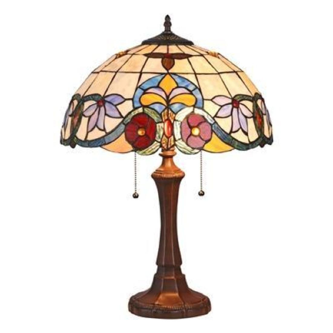 ADELE Tiffany-style 2 Light VictorianTable Lamp 16""