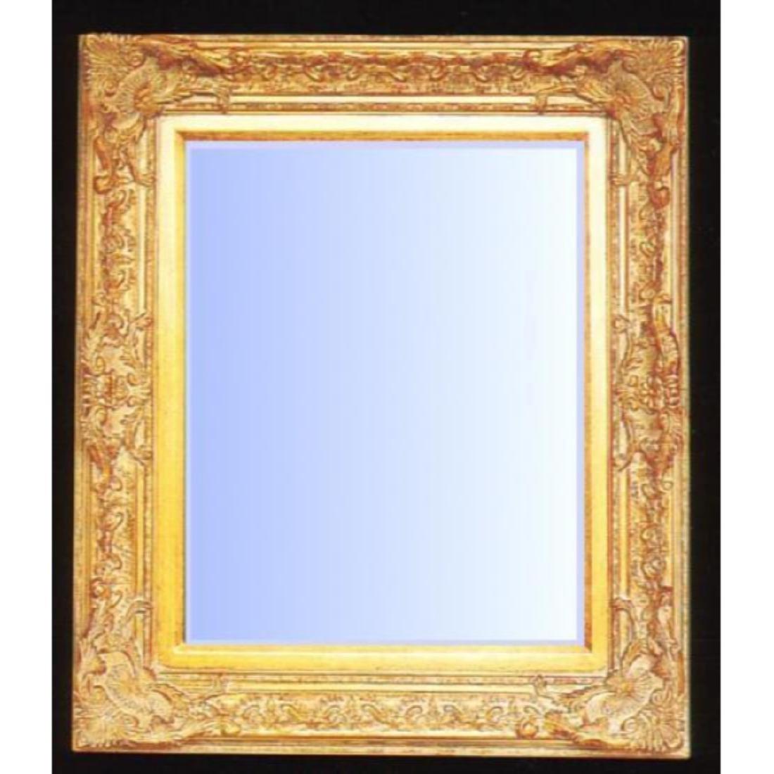Ornate Gold Gilt Beveled Mirror