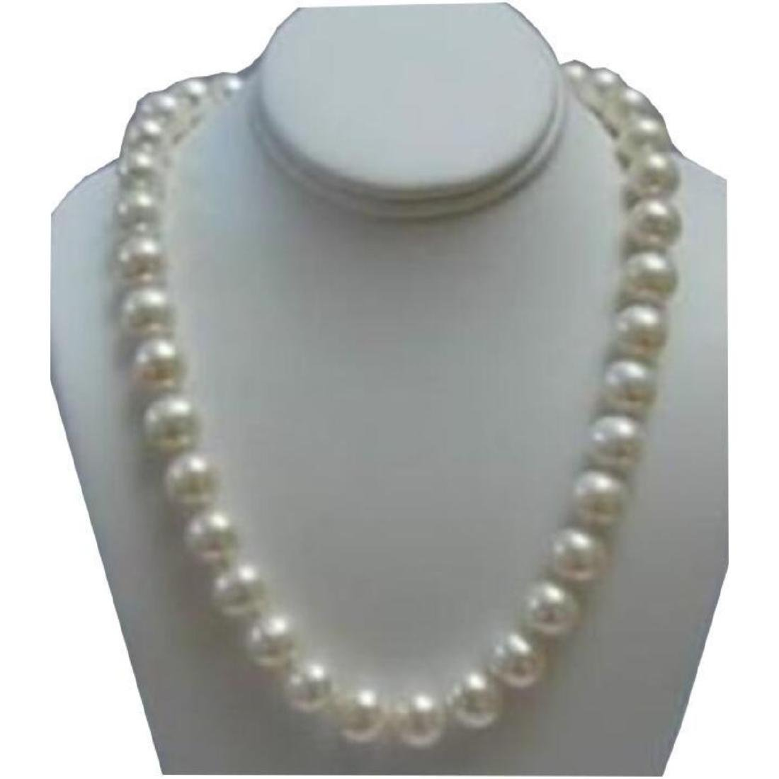 """Beautiful 9-10mm White South Sea Pearl 18"""" Necklace"""