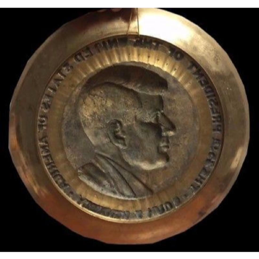 President John F Kennedy Brass Commemorative Decorator - 2