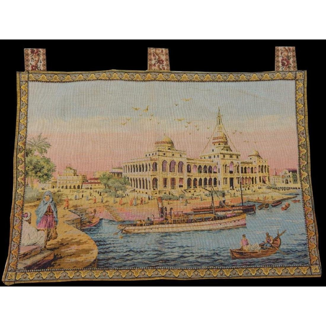 Vintage French Beautiful Tapestry Wall Hanging 58x83cm - 3