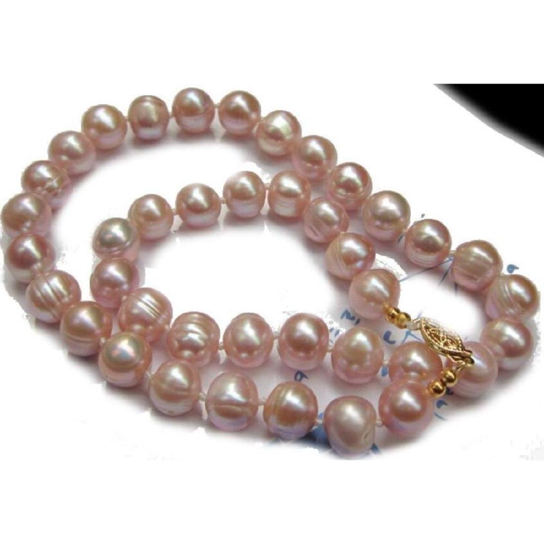 """11-12mm Natural Pink South Sea Pearls 14kt Gold 18"""""""