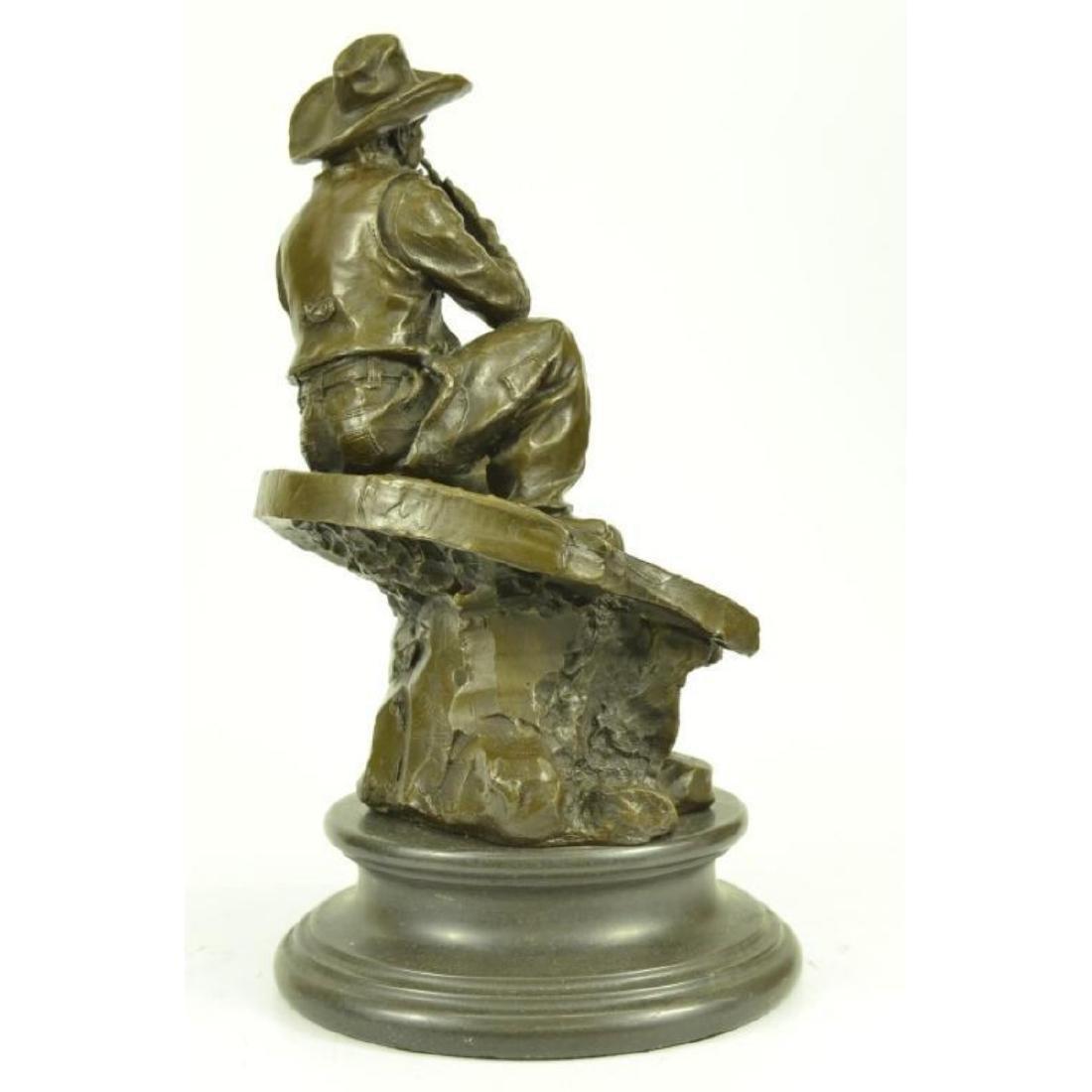 Western Cowboy Bronze Sculpture - 2