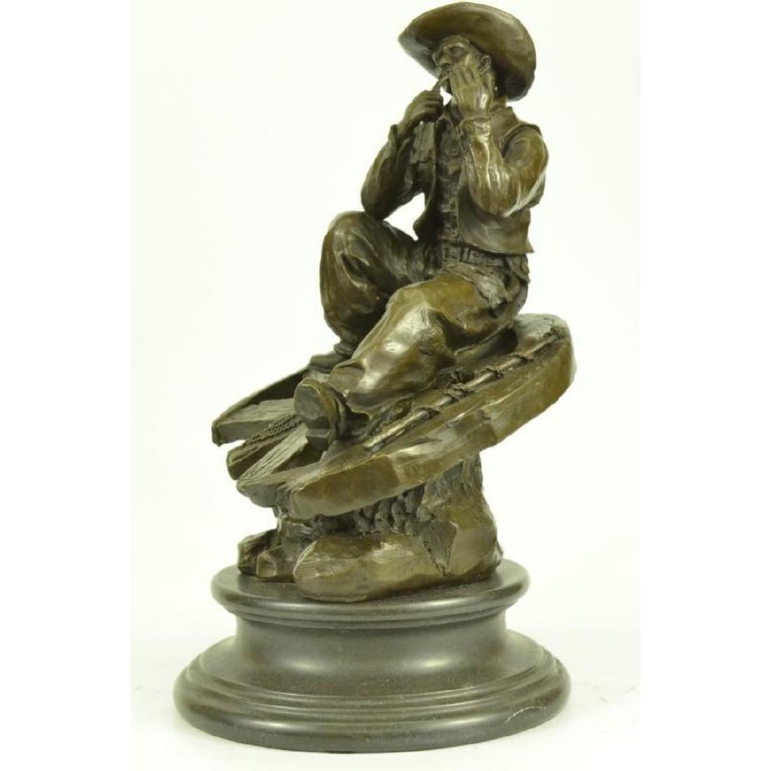 Western Cowboy Bronze Sculpture - 3