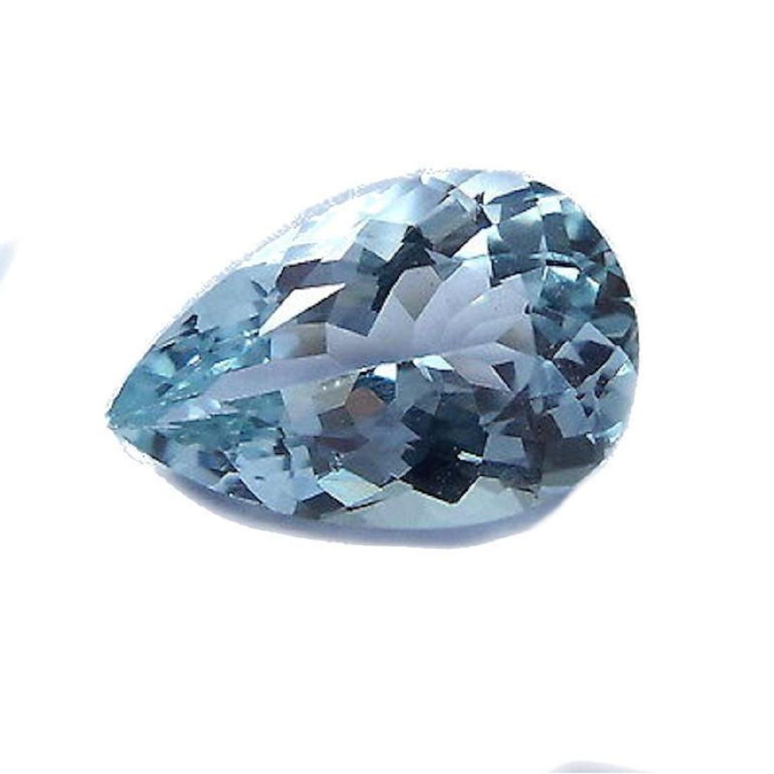 1.7ct Natural Aquamarine Pear Faceted Gemstone