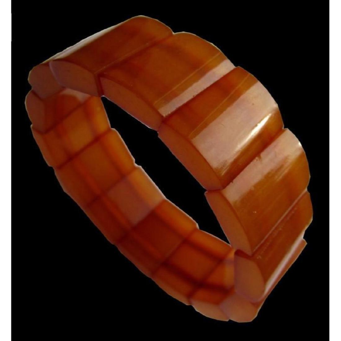 Vintage Baltic Natural Amber Bracelet - 3