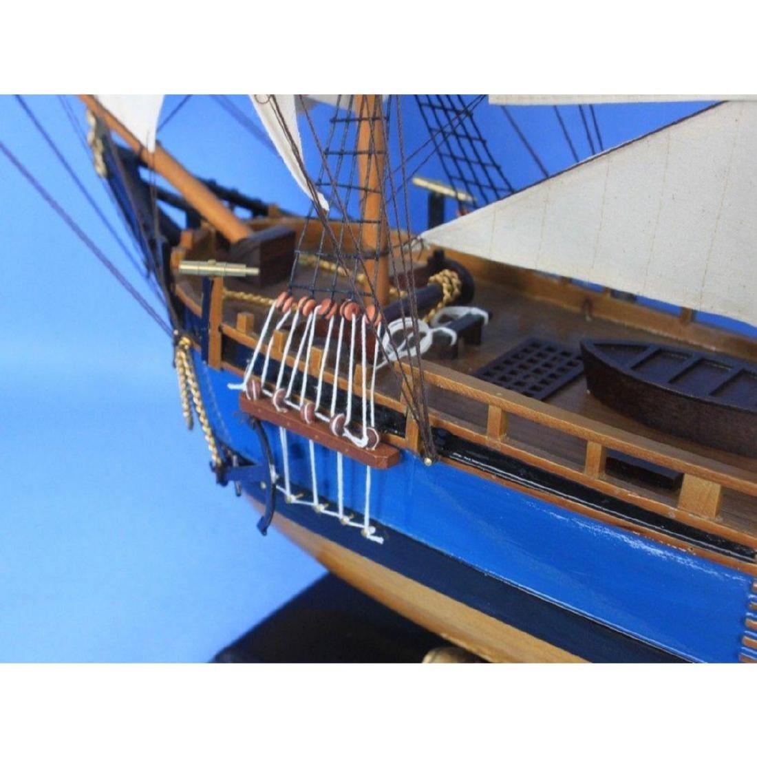 "Wooden HMS Bounty Tall Model Ship 34"" - 2"