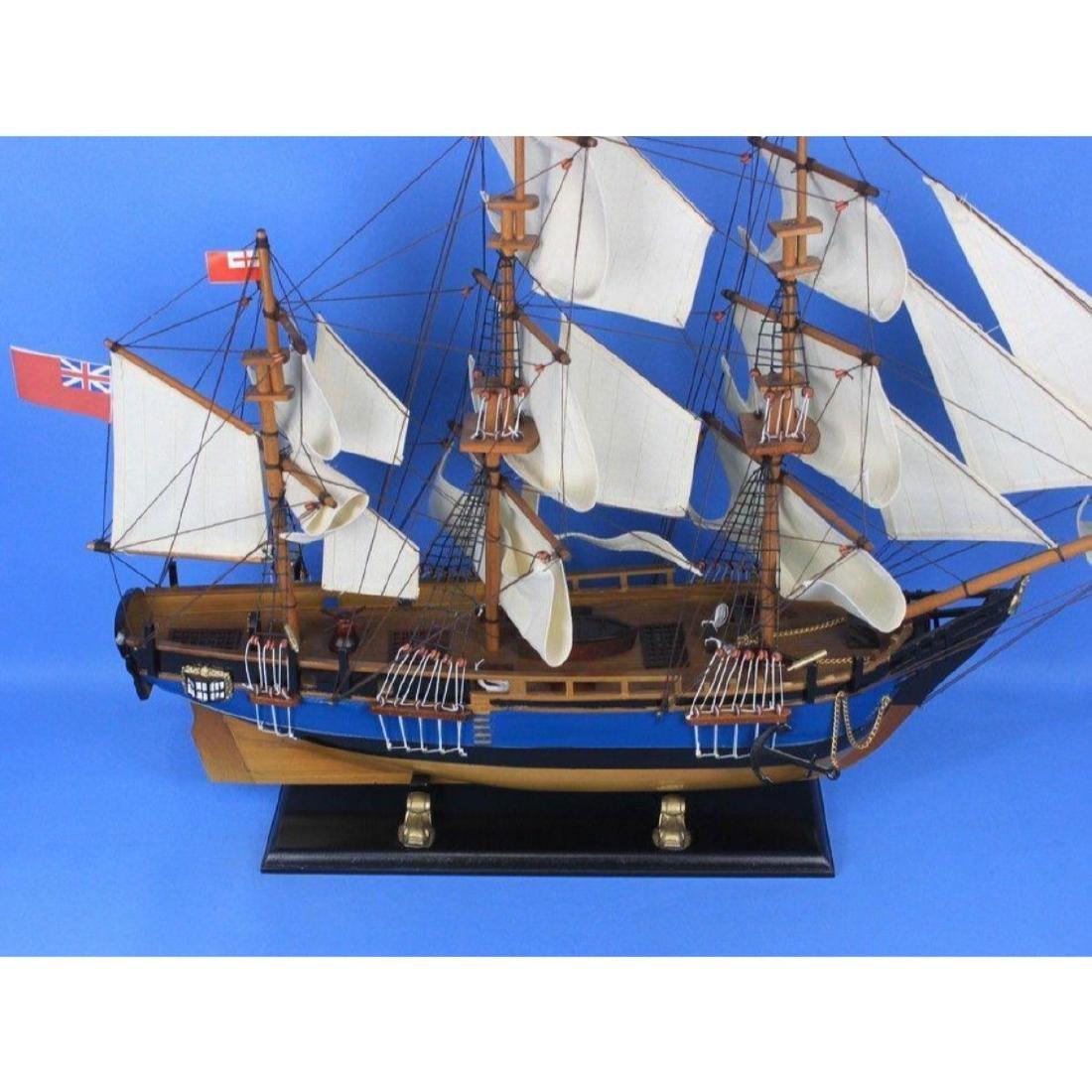 "Wooden HMS Bounty Tall Model Ship 34"" - 3"