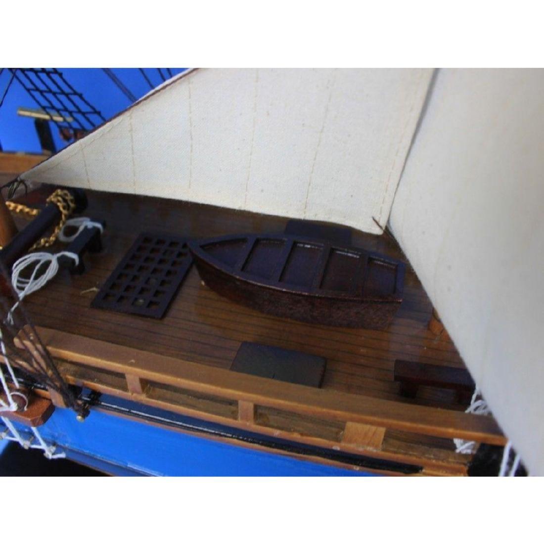 "Wooden HMS Bounty Tall Model Ship 34"" - 5"