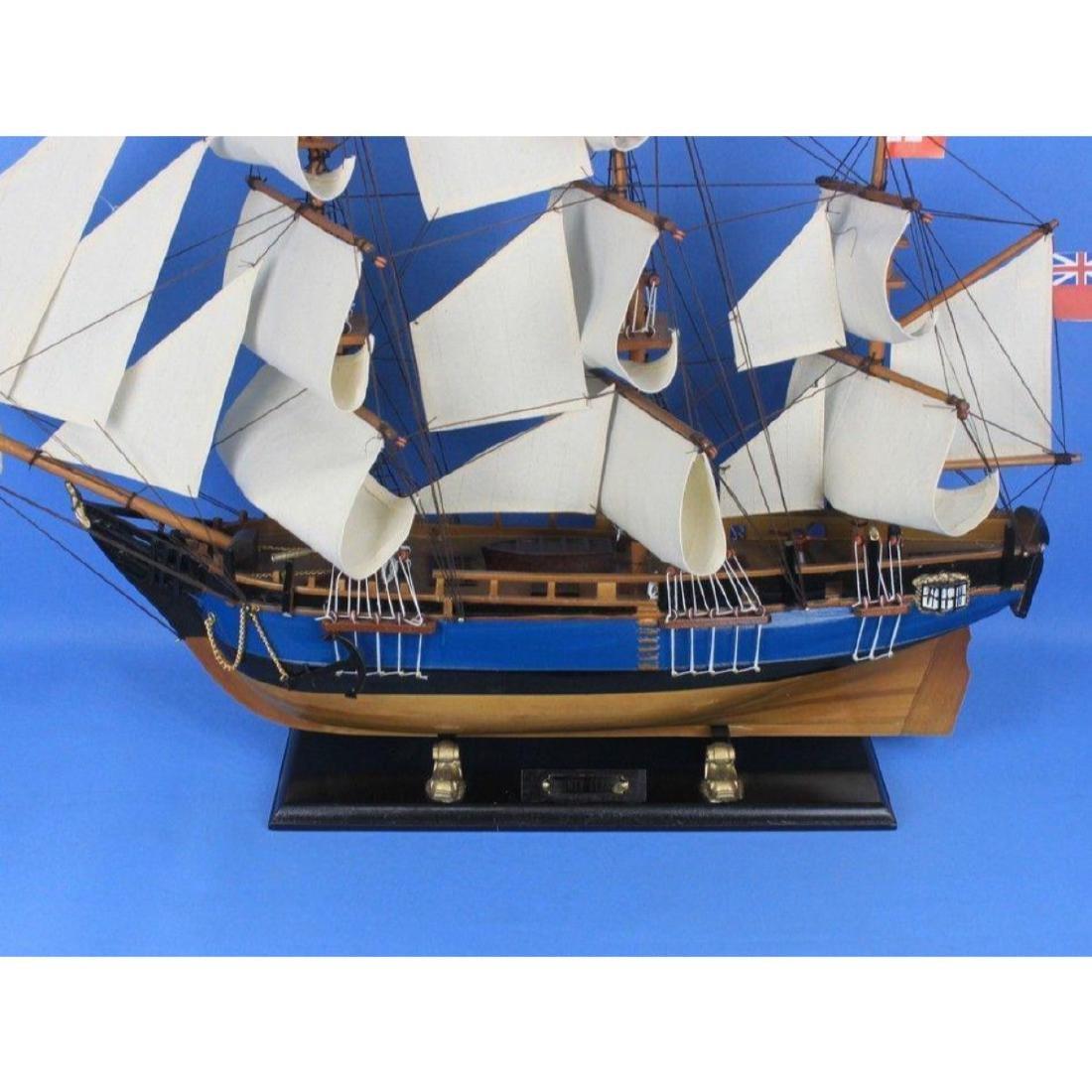 "Wooden HMS Bounty Tall Model Ship 34"" - 6"